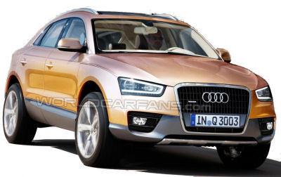 Cette illustration est due à World Car Fans (www.worldcarfans.com). Espérons que la future Audi Q3 ressemblera à ces dessins.